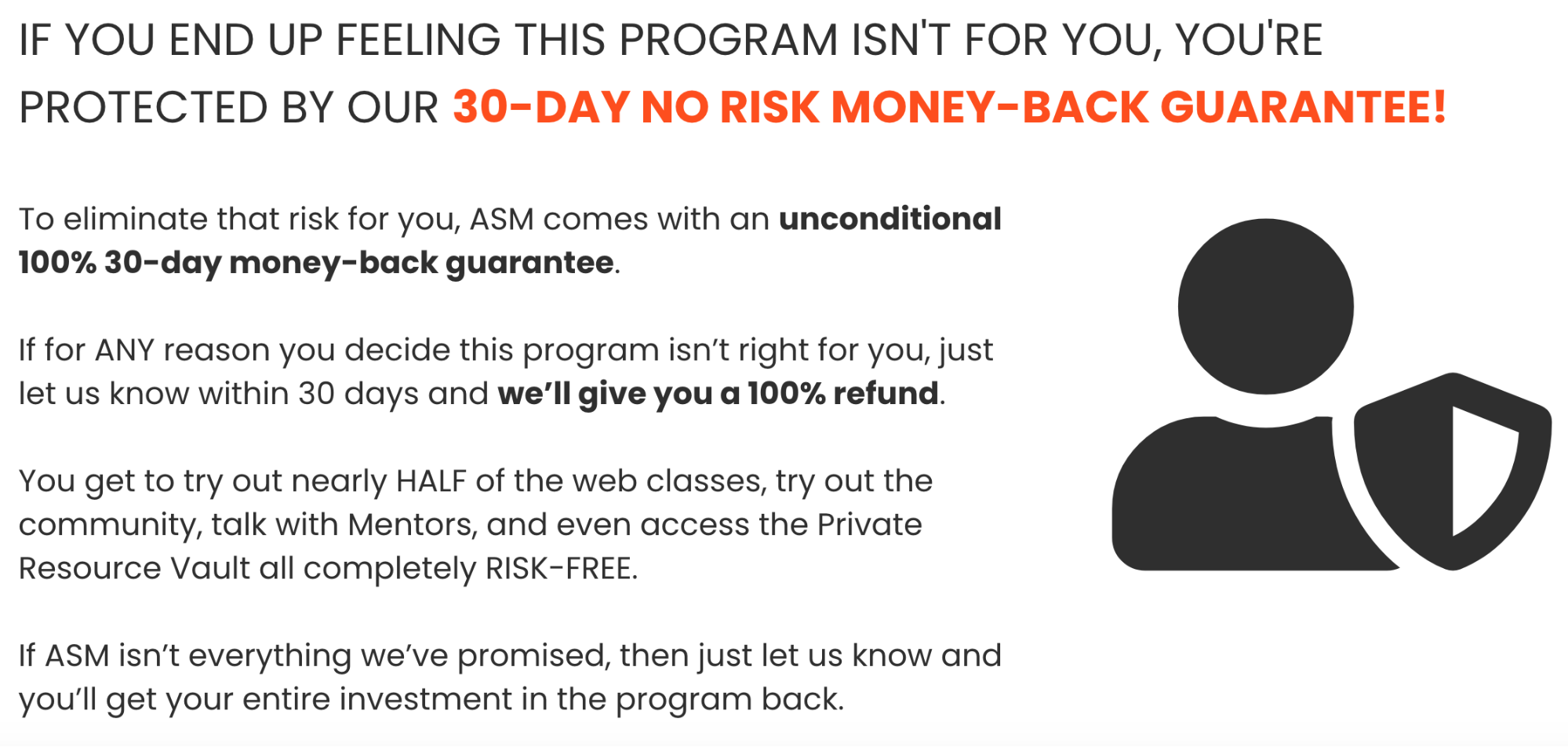 online course refund policy example