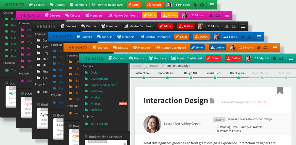 Heights Platform color themes