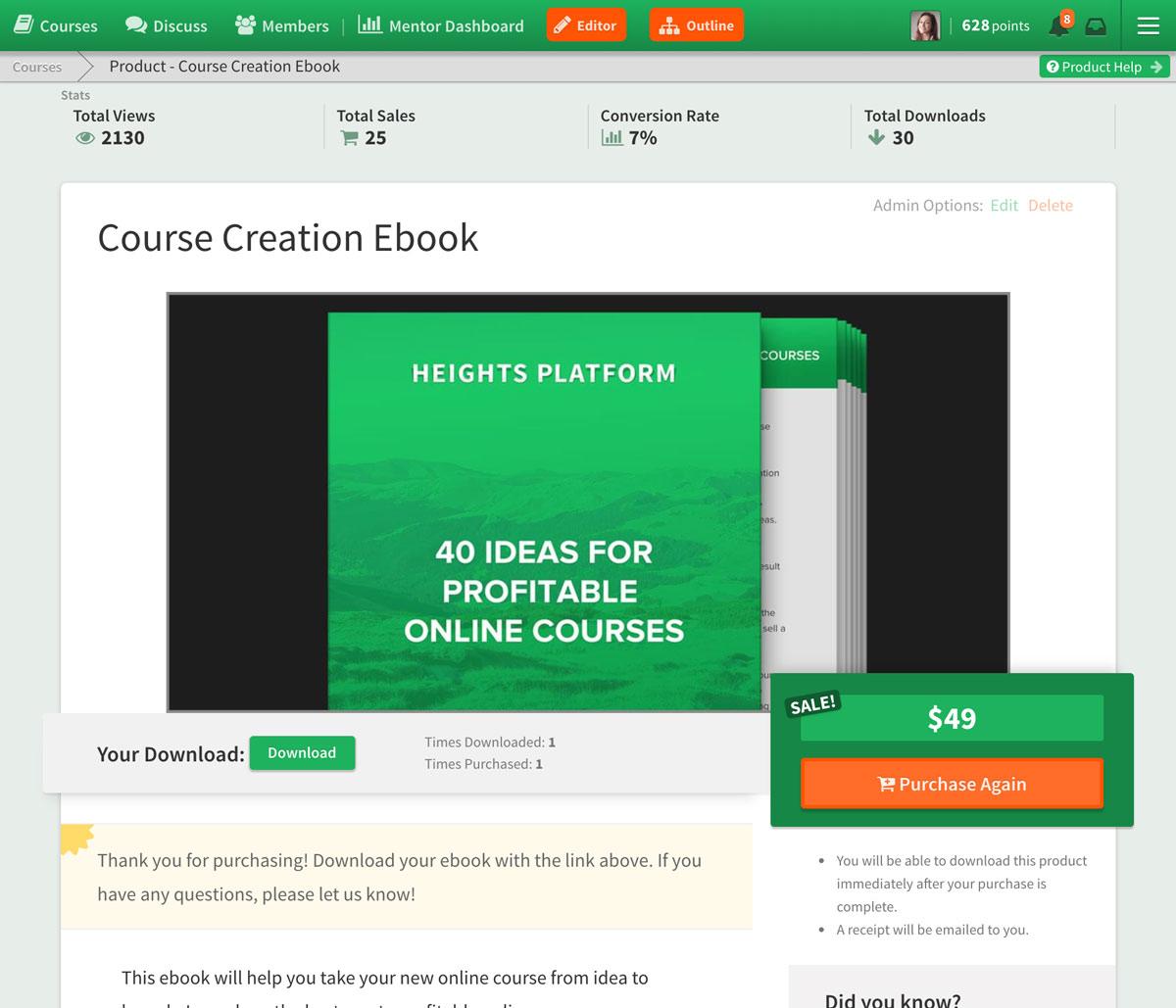 Heights Platform Digital Product Creation