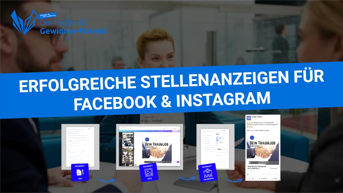 Wie man eine erfolgreiche Social Stellenanzeige für Facebook und Instagram in wenigen Minuten erstellt
