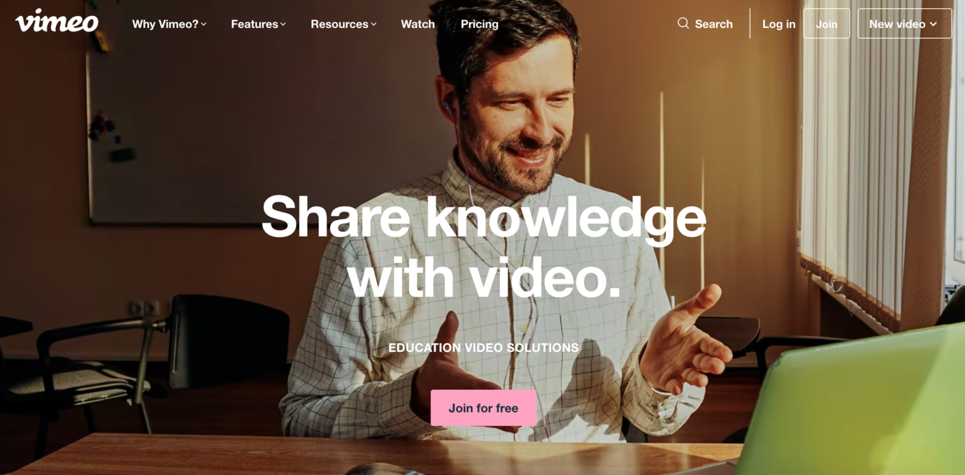 Vimeo tool to embed in online course platform