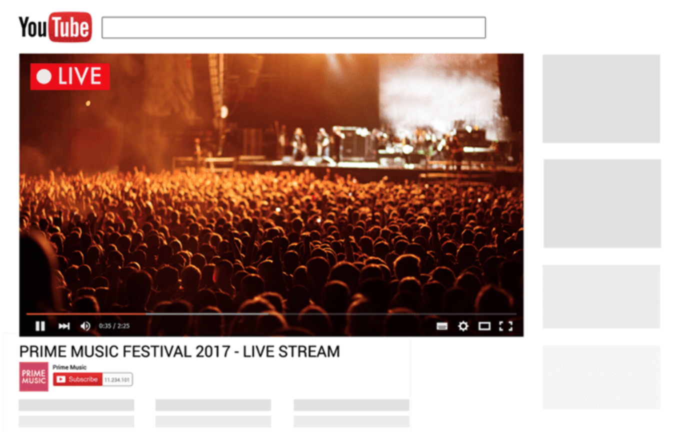 YouTube Live tool to embed in online course platform