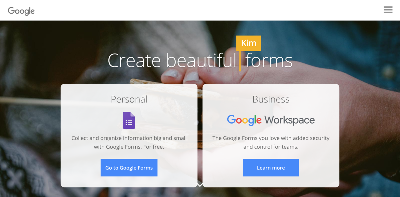 Google Forms tool to embed in online course software