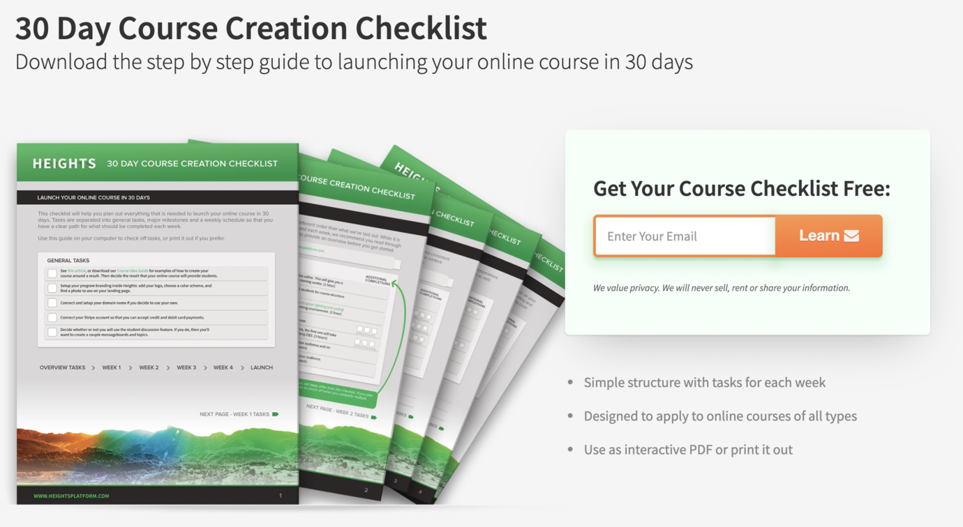 How to Create a Checklist Lead Magnet for an Online Course