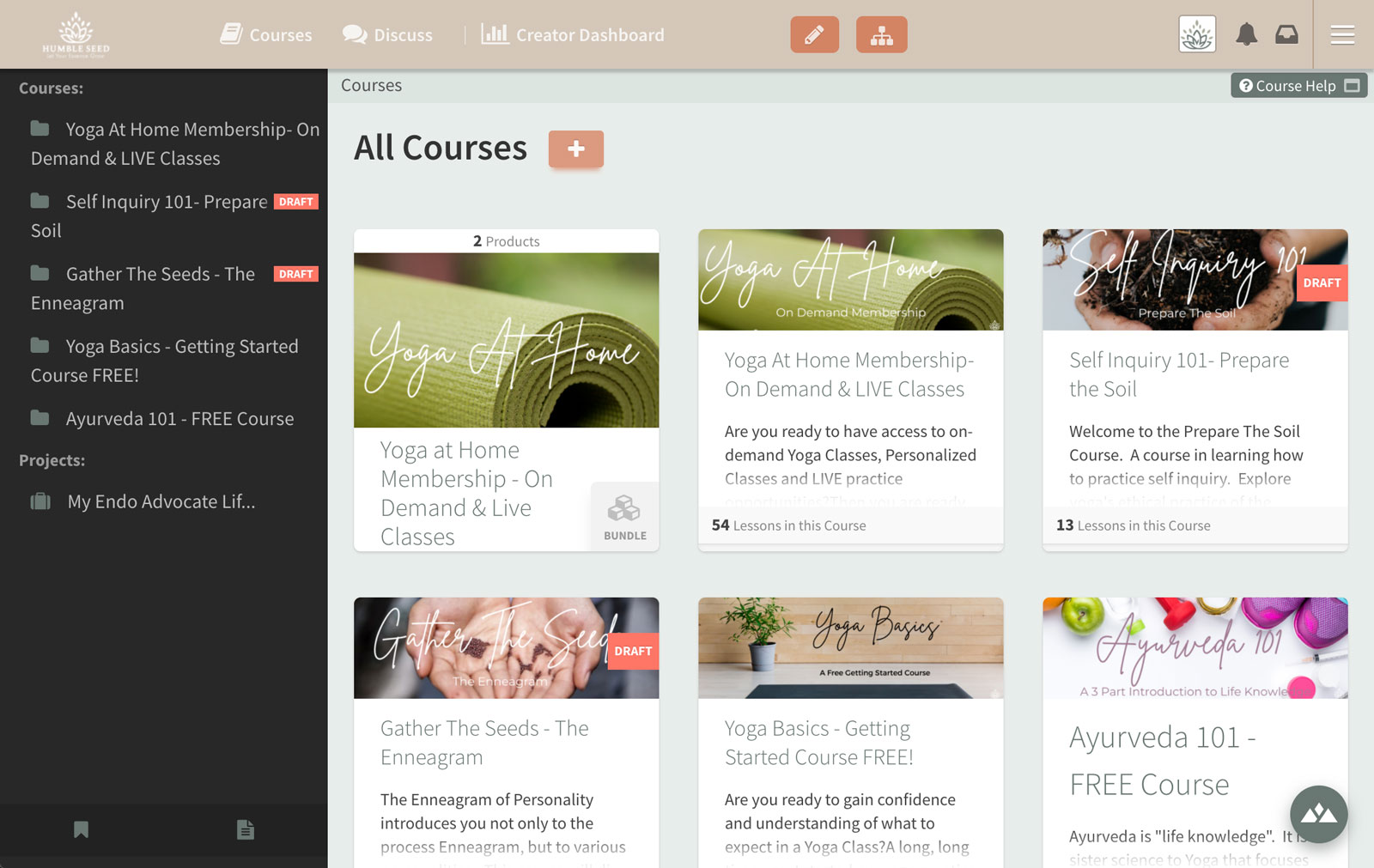Course creation software product list for online yoga course
