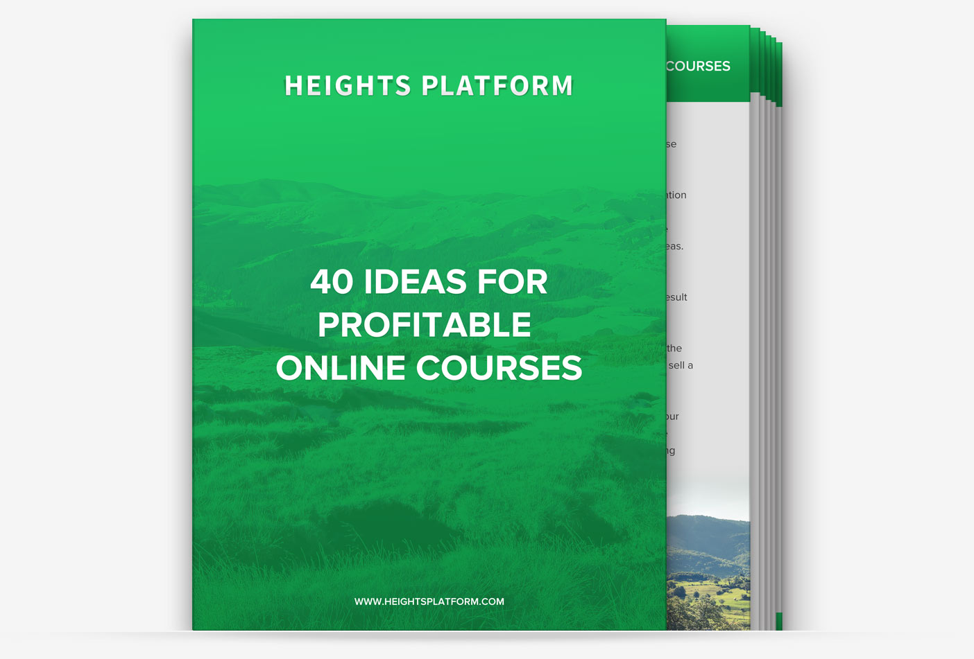 Heights Platform 40 Ideas for Profitable Online Courses Guide